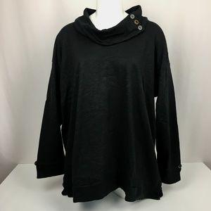 NWT Neon Buddha Women's 1X Black Tunic Cowl Neck